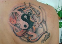 Dragon Yin Yang Tattoo Design