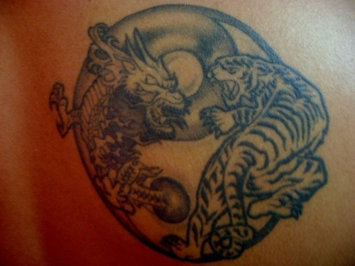 yin and yang dragon and tiger tattoo meaning